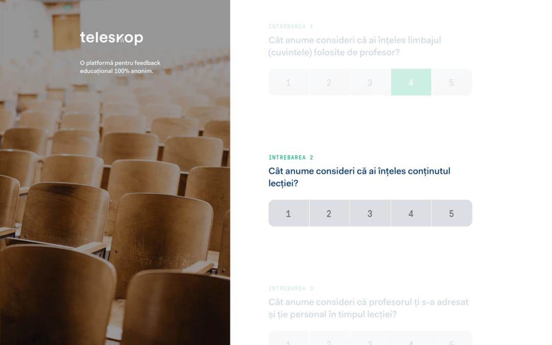 Aplicația Teleskop pentru colectarea feedback-ului
