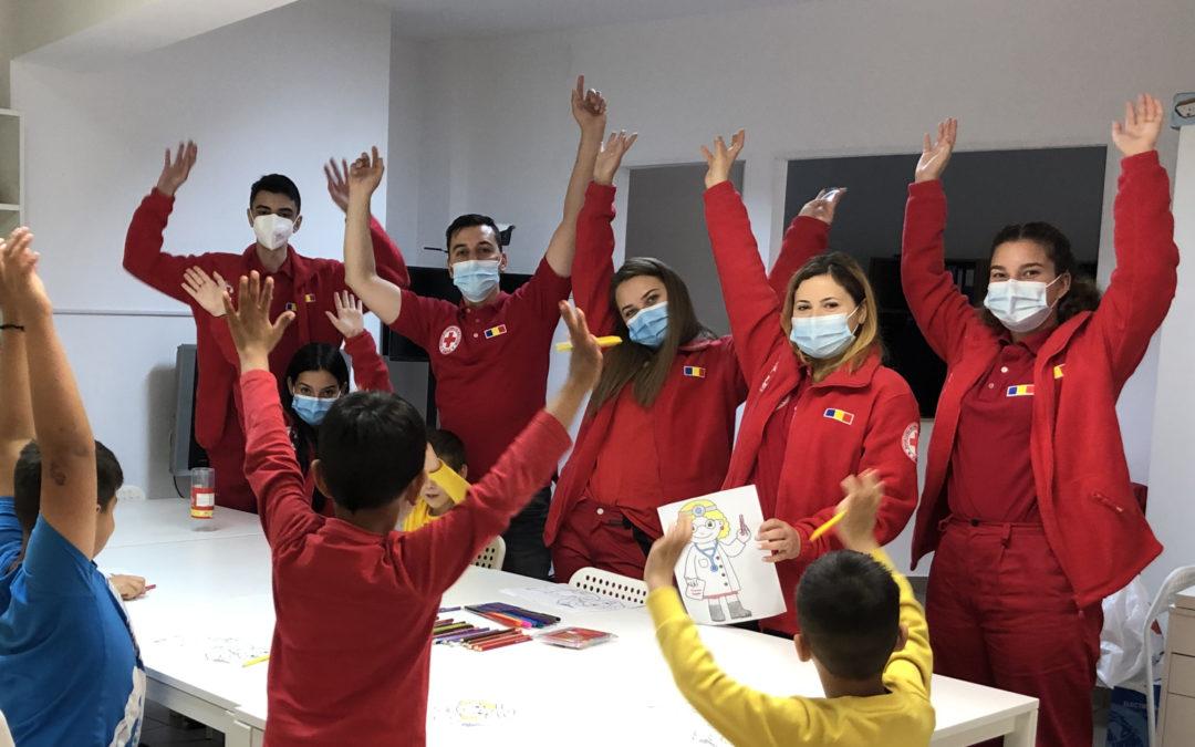 Voluntarii Crucea Roșie – activi de Ziua Copilului