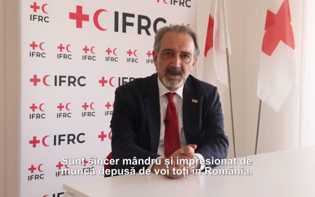 Mesajul preşedintelui Federației Internaţionale de Cruce Roşie şi Semilună Roşie, Francesco Rocca