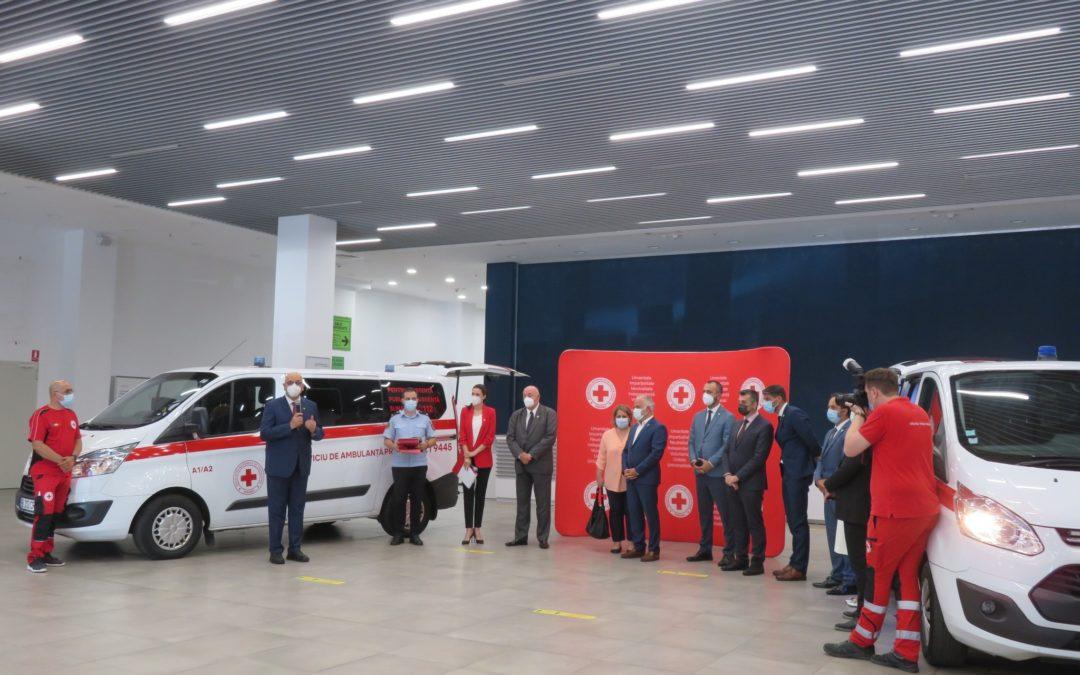 Cu ocazia vizitei delegației oficiale de la Semiluna Roșie Turcă, voluntarii Crucii Roșii Române au organizat o demonstrație de prim ajutor.